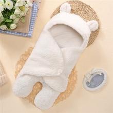 Детское одеяло для новорожденных, Пеленальное Одеяло, мягкое зимнее детское постельное белье, одеяло для новорожденных, спальный мешок для новорожденных 0-12 месяцев