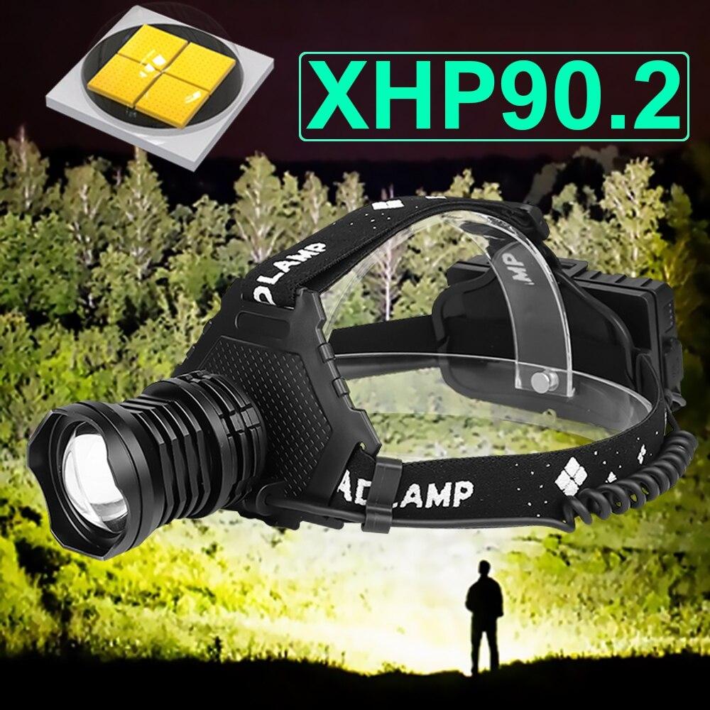 300000 LM XHP90 2 LED Headlight XHP90 High Power LED Head Lamp 36W Usb 18650 Rechargeable XHP70 Head Light XHP50 2 Zoom Headlamp