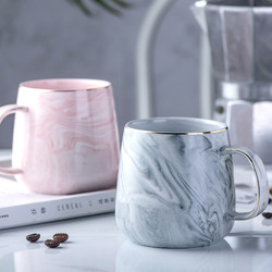 Creative European Phnom Penh Milk Coffee Mugs Marble Pattern Breakfast Water Mug Office Home Drinkware Tea Cup Lover's Gifts