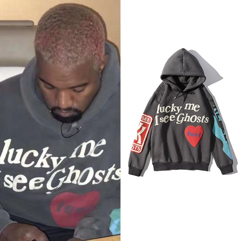 Kanye West Hooded Hoodies Streetwear Hip Hop Graffiti Hoodies Men Stranger Things Vintage Plus Velvet Pullover Sweatshirt Women