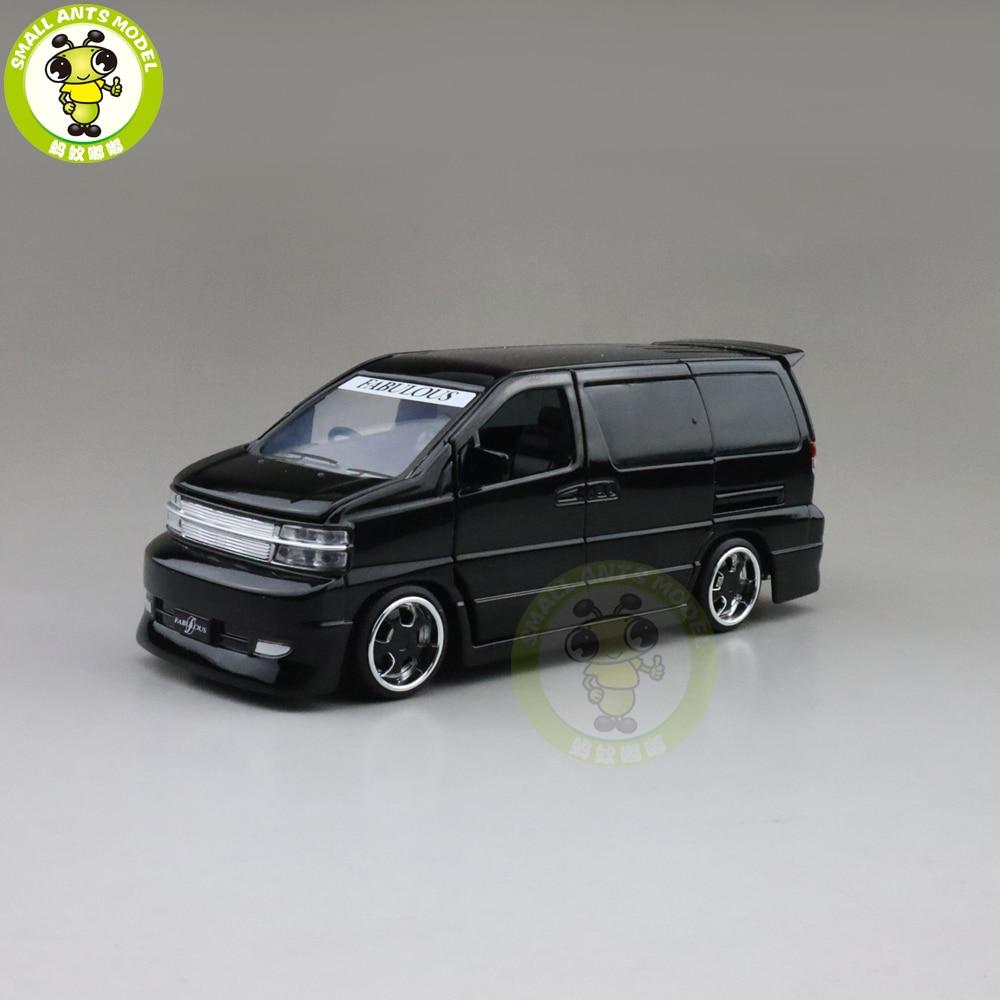 1/32 JACKIEKIM ELGRAND Diecast Model CAR Toys For Kids Sound Lighting Car Boy Girl Gifts