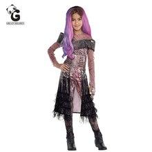 Filme audrey cosplay trajes crianças trajes de halloween para crianças halloween cosplay anime crianças mal traje macacões meninas