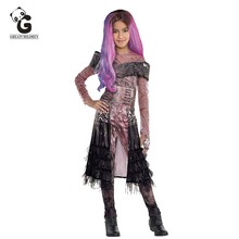 Movie Audrey Cosplay Costumes Kids Halloween Costumes for Kids Halloween Cosplay Anime Kids Mal Costume Jumpsuits Girls