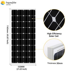 Image 2 - Solar Panel 100w 200w 300w 400w 18V Rigid Glass Panel Monocrystalline Cell 12V/24V Battery Charger Panneau Solaire RV Home Roof