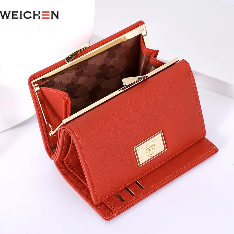 Weichen Small Women Wallet Trifold Leather Female Purse Brand Designer Ladies Wallet Coin Purse Young Girl Purse Card Holders|Wallets|   - AliExpress