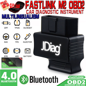 MINI OBD2 Auto Code Reader Bluetooth 4.0  FasLink M2 Phone Diagnostic Tool M2 Automotive Scanner Better Than EasyDiag launch x431 easydiag 3 0 obd2 car diagnostic tool easydiag 3 0 plus for android system obdii code scanner