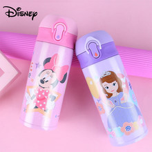 Disney children's mug direct drinking portable bottle male and female pupils 304 stainless steel kettle drop water cup(China)