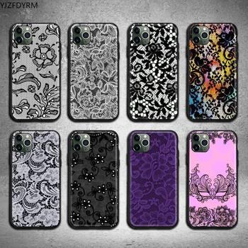 Сексуальный кружевной Цветочный боковой чехол для телефона iphone 12 pro max 11 pro XS MAX 8 7 6 6S Plus X 5S SE 2020 XR