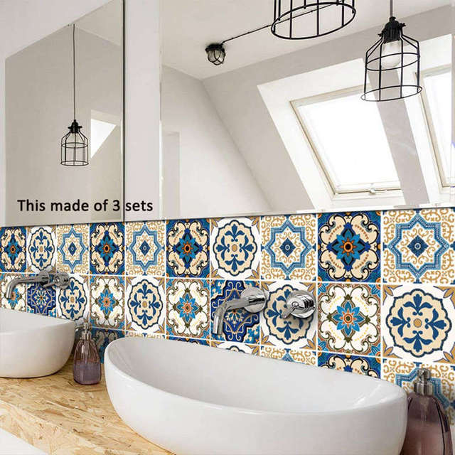 Moroccan Style Tile Stickers 10pc 8