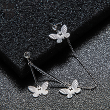 Into Crystal Butterful Ear Cuff Earrings For Women Tassel Chain Fake Piercing Ca