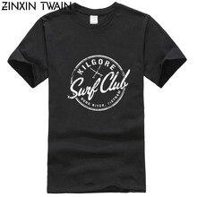 Camiseta de algodão novo kilgore surfs club, apocalypse now inspirado 100% algodão, camiseta de moda sheen, 2019