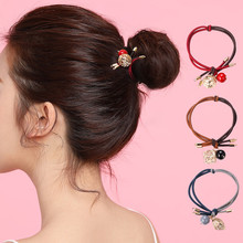 CHIMERA Fashion Women Hair Ties Srunchies Leaf Ball Elastic Band Headband Rubber Rope Accessories Girl Ponytail Holder
