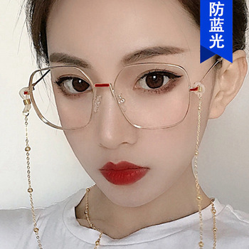 irregular eyeglass frame metal 2020 new European and American retro fashion spectacle frame 9025 flat lens kickoff image