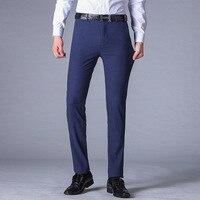 2019 New Mens Slim Fit Business Dress Pants for Men Suit Pants Full Length Men Spring Fall Formal Suit Trousers Plus size 29 40