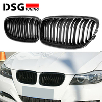 e90 e91 design carbon fiber racing grill replacement grille for bmw 3 series sedan hatchback 320i lci high quality