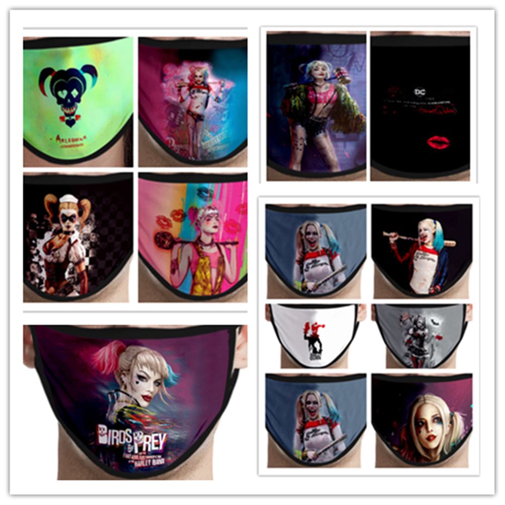 Suicide Squad Harley Quinn Face Mask Cosplay Costume Accessories Birds Of Prey Mascarillas Mask