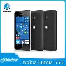 Nokia lumia 550 original remodelado lumia 550 8mp câmera quad-core 8gb rom 1gb ram telefone móvel lte fdd 4g 4.7