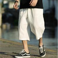 2019 Sinicism sweatpants Male Cross Pants Low Rise Lantern Pants Men Ultralarge Harem cotton linen Pants Hiphop Jogger Trousers