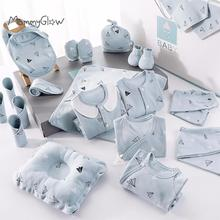 18 22 Pieces Newborn Clothes Baby Gift Pure Cotton Baby Set 0-12 Months Autumn And Winter Kids Clothes Suit Unisex Without Box tanie tanio W wieku 0-6m CN (pochodzenie) Na co dzień O-neck Zestawy Pojedyncze piersi Pełna REGULAR Pasuje prawda na wymiar weź swój normalny rozmiar