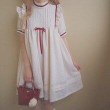 Estilo Palacio japonés dulce lolita vestido vintage cuello redondo cintura alta corto/largo vestido victoriano kawaii chica gótico lolita op loli