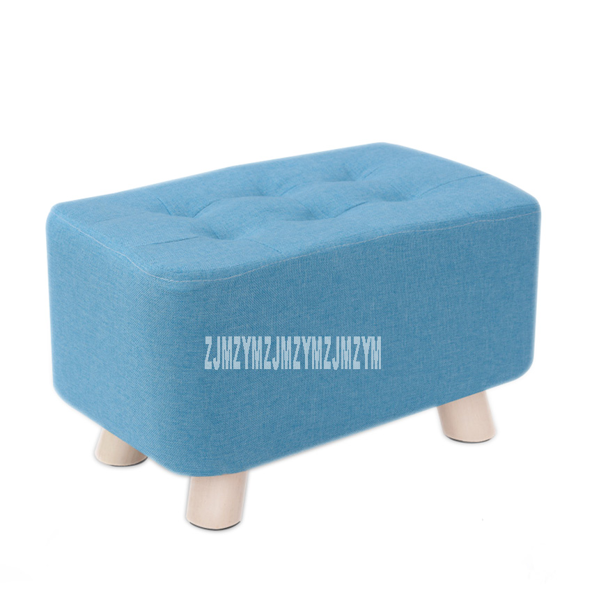 Fabric Small Stool Home Sofa Stool Lazy Bench Solid Wood Shoe Stool Low Stool Living Room Stool Bench 40*25*25cm