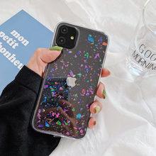 Чехол ins с блестками для телефона iphone 12 12mini 11 pro max