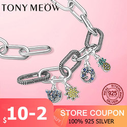 Jewelry Bracelet Pandora Me DIY 925-Sterling-Silver Heart Women Pandora Me link Bracelet for Women Fine jewellery