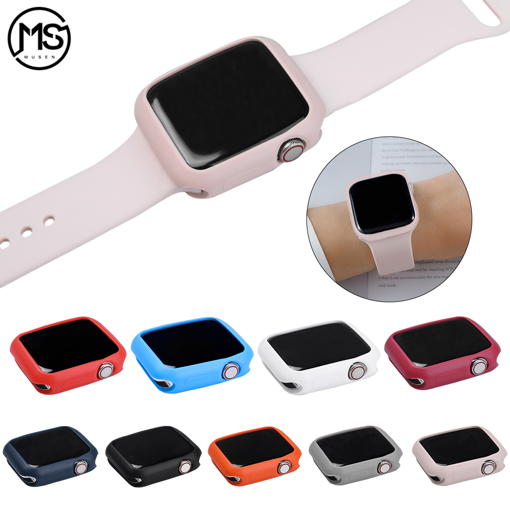 Suitable for <font><b>Apple</b></font> <font><b>Watch</b></font> 3 <font><b>2</b></font> 1 42MM 38MM Cover Protection Shell apply to iWatch 4 5 40MM 44MM ProBefit Candy Soft Silicone <font><b>Case</b></font> image