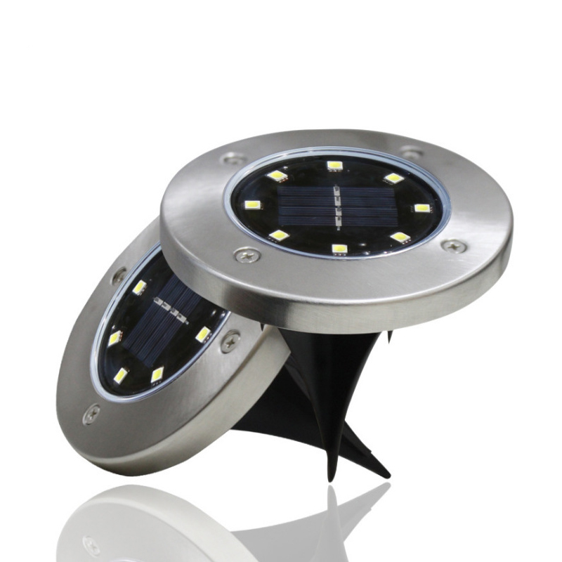 Solar Power Buried Light 8 LED Under Ground Lamp Cold/Warm White Waterproof Lawn Lamp Outdoor Path Way Garden Decking Light