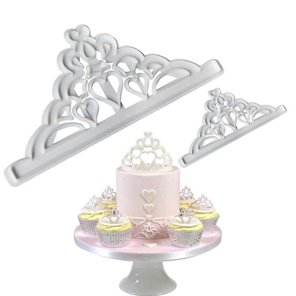 2 шт. Корона Пластик Fondant (сахарная) резак форма для выпечки тортов Fondant (сахарная) кекс украшения инструменты форма для шоколадной мастики дл...
