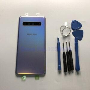 Image 2 - オリジナルサムスンギャラクシー S10 5 グラムバージョン G977 G977F G977B 背面ガラスバッテリードア裏表紙ケースバックガラスカバー + ツール