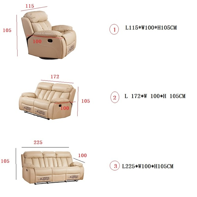 3 PC Living Room Furniture Home Theater Grouping  6