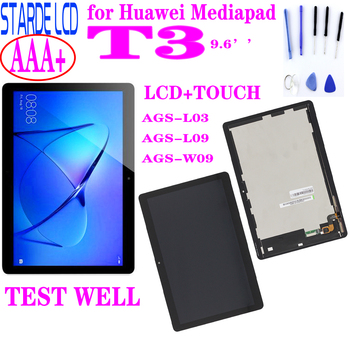 Original lcd 9.6For Huawei Mediapad MediaPad T3 10 AGS-L03 AGS-L09 AGS-W09 T3 LCD display touch screen digitizer assembly+Tools for huawei mediapad t3 10 ags w09 ags l09 ags l03 digitizer touch screen replacement