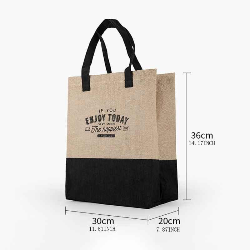 Nadrukowane litery wielokrotnego użytku duża torba na ramię na zakupy do przechowywania produktów spożywczych etui organizator