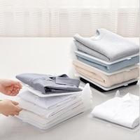 5PCSAnti wrinkle wardrobe storage folding board creative household folding clothes artifact T shirt shirt storage finishing rack