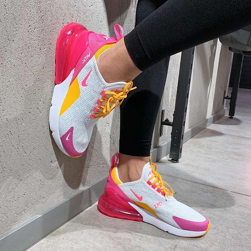 الأصلي نايك الهواء ماكس 270 المرأة احذية الجري في الهواء الطلق تنفس أحذية رياضية مريحة يمكن ارتداؤها 2019 جديد وصول CI1963-166