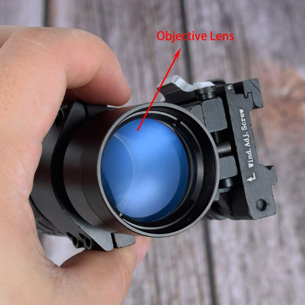 <font><b>Red</b></font> <font><b>Dot</b></font> Rifle Sight 3x Magnifier Tactical Compact Scope Sigh with Flip UP Mount Side Picatinny Airsoft Rail Mount Hunting Gun image