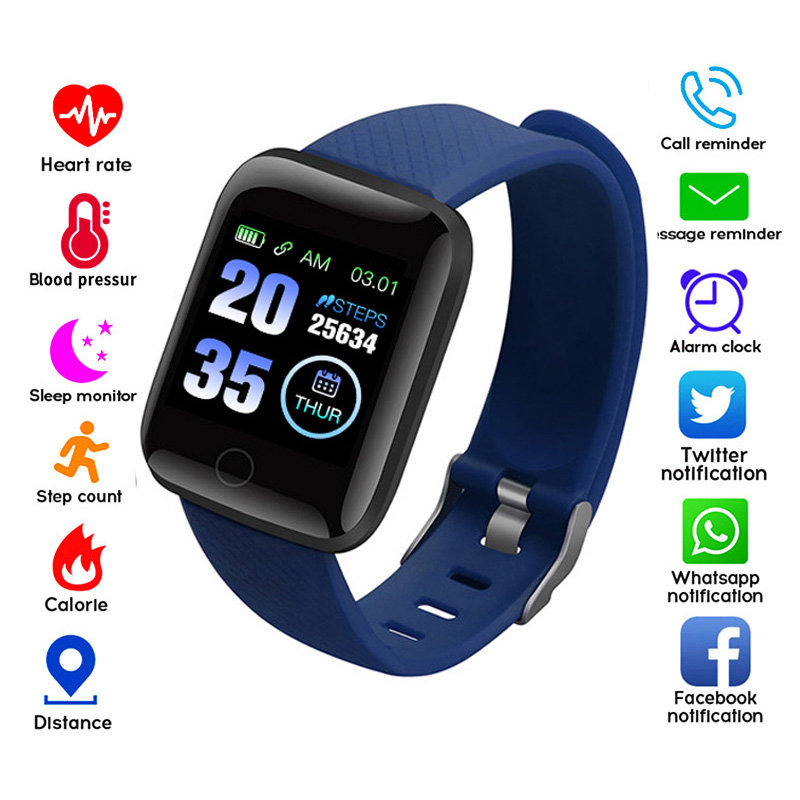 116 Plus Smart Watches Heart Rate Monitor Smart Wristband Fitness Tracker Sports Watch Smart  Bracelet High Resolution Screen