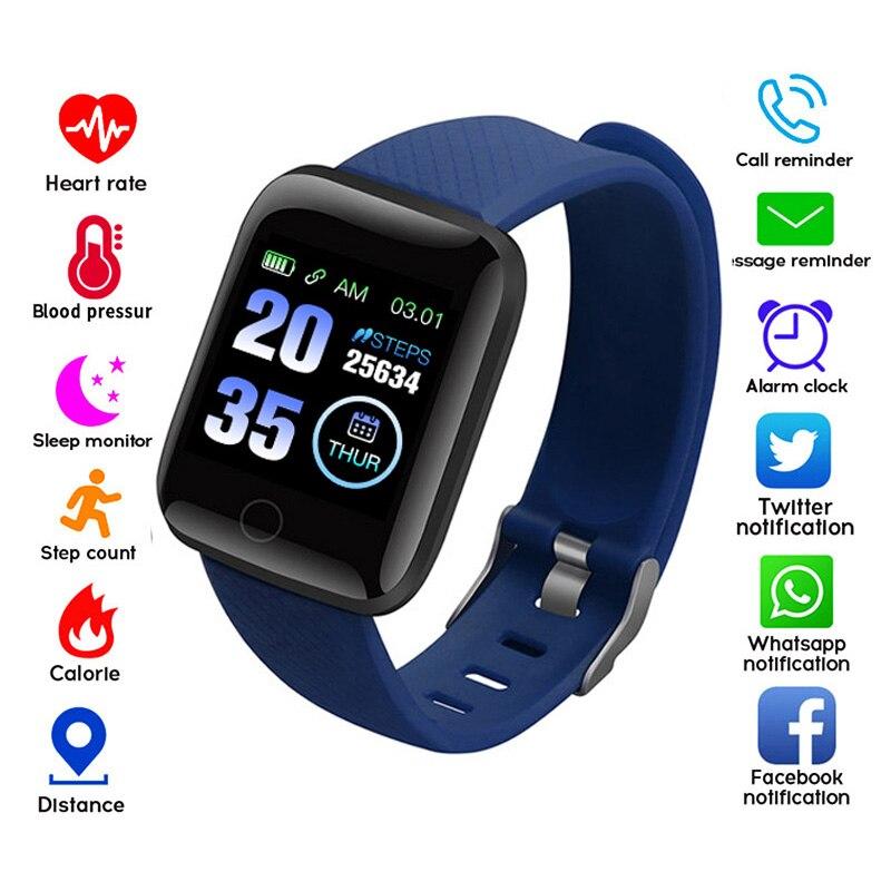 116 Plus Smart Watches Heart Rate Monitor Smart Wristband Fitness Tracker Sports Watch Smart  Bracelet High Resolution Screen