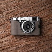 Fuji X100F  Camera Mr.Stone Handmade Genuine Leather Camera case Video Half Bag Camera Bodysuit
