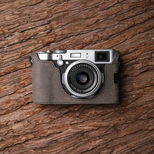 فوجي X100F كاميرا Mr.Stone اليدوية جلد طبيعي كاميرا فيديو نصف حقيبة كاميرا ارتداءها