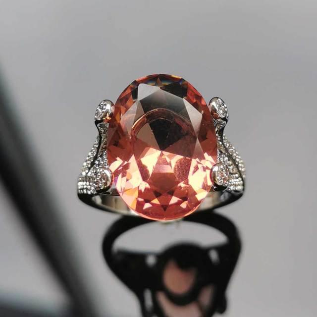 Купить женские кольца из стерлингового серебра 925 пробы ffgems с большим картинки цена