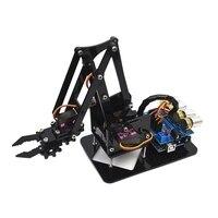 Diy acrílico robô braço robô garra para arduino kit 4dof brinquedos manipulador garra mecânica diy|Peças p/ aspirador de pó| |  -