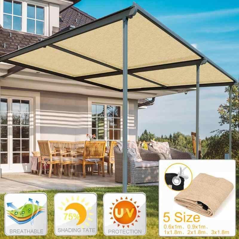 5 taille Anti-UV bloc abri soleil voile auvent extérieur Camping cour jardin Patio piscine parasol Protection auvent Protection solaire