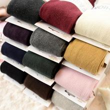 New Spring Autumn Winter Cotton Knitted Stockings Candy Color Women Warm Twist Striped Tights 2 designs