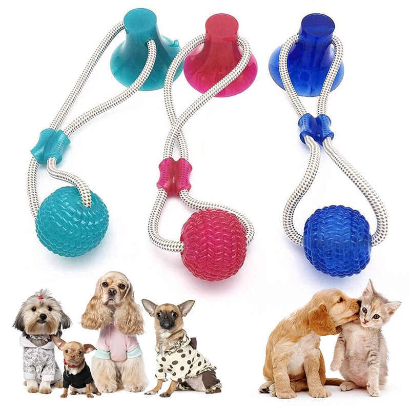 Pet Toys with Suction Cup Dog Ball Dog Toothbrush Rubber Dog Toy Puppy Toys Dog Toys for Large Small Dogs Popular Toys Petshop 11