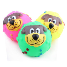 1pcs Dog Toys Rubber Squeaky Funny Pets Puppy Cat Ball Teeth Toy PVC Chew Sound Dogs Play Fetching Squeak Pet Supplies