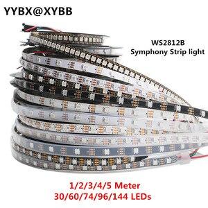 1/2/3/4/5 Meter WS2812B Full Color Symphony 30 60 74 96 144 LED Pixel/Meter wbudowany programowalny adresowalny 5V diody na wstążce