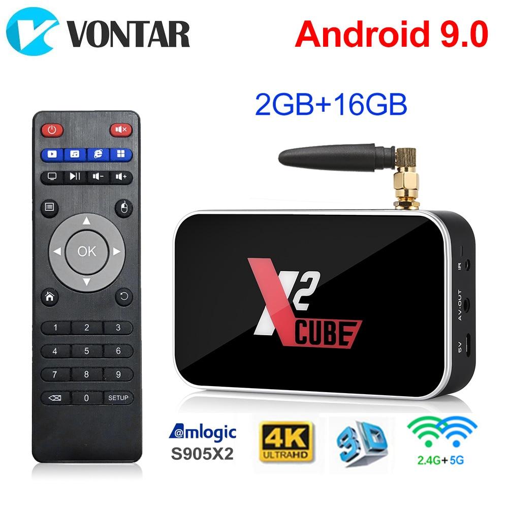 Android 9.0 Smart TV Box X2 Cube S905X2 2GB 16GB DDR4 Amlogic X2 Pro 4GB RAM 32GB Media Player Dual WiFi Support Google Voice