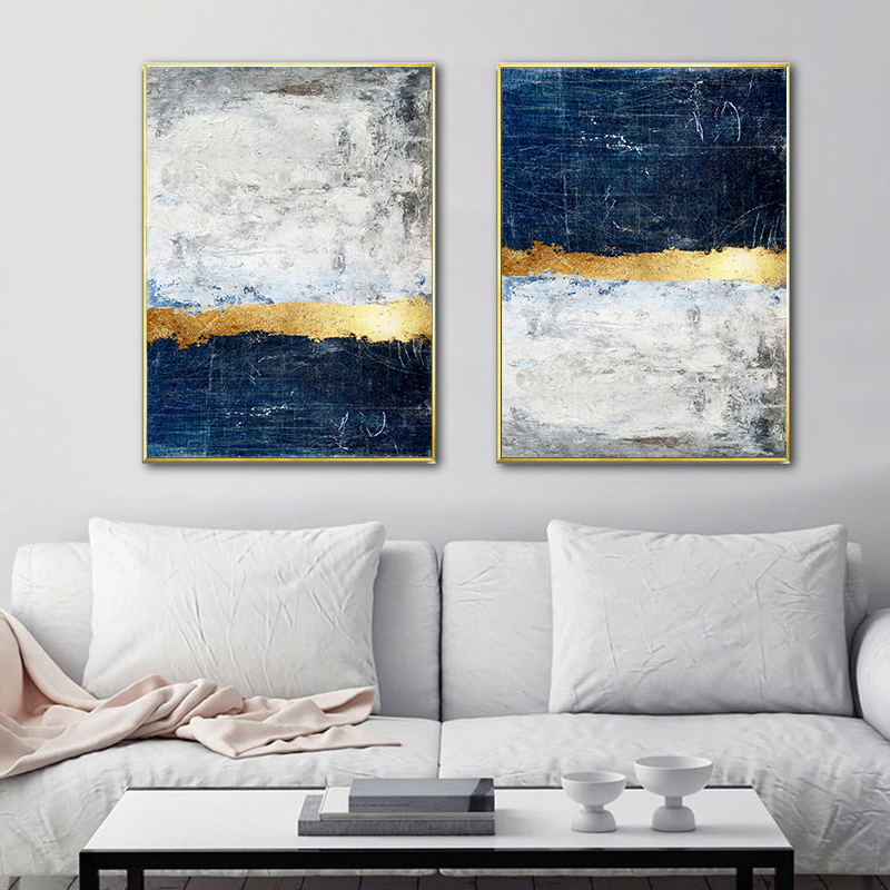 2019 Abstract Painting Blue Painting Blue Wall Art Picture Canvas Poster  Print Wall Art Pictures Living Room Decoration From Sophine11, $28.23 | ...